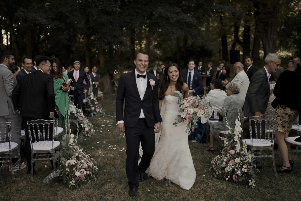 Fin d'une cérémonie de mariage laïque